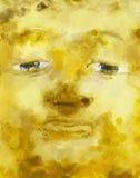 Pintura da cara da Buda ilustração royalty free