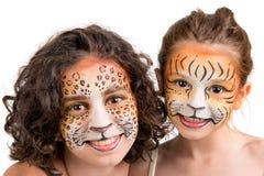 Pintura da cara, felines fotos de stock