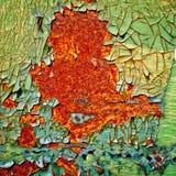 Pintura da casca no fundo oxidado do metal fotos de stock royalty free