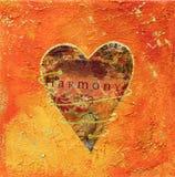 Pintura da colagem do coração Fotografia de Stock Royalty Free