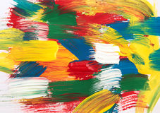 Pintura da cor Fotografia de Stock