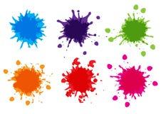 A pintura da cor do vetor chapinha, chapinha a coleção do bloco, illustratio Foto de Stock Royalty Free