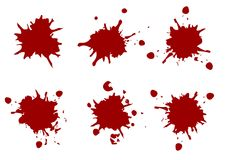 A pintura da cor vermelha do vetor chapinha, chapinha a coleção do bloco, illustr Fotos de Stock Royalty Free