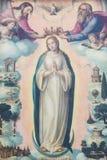Pintura da coroação da mãe Mary pela trindade santamente, Imagem de Stock Royalty Free