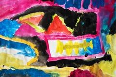 Pintura da criança Foto de Stock