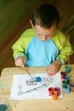 Pintura da criança Imagens de Stock Royalty Free