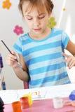 Pintura da criança Foto de Stock Royalty Free