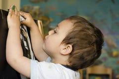 Pintura da criança Fotos de Stock Royalty Free