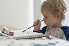 Pintura da criança Fotografia de Stock