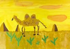 Pintura da criança Imagem de Stock