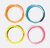 Pintura da escova do círculo Imagens de Stock