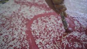 Pintura da escova do ` s do artista filme