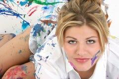 Pintura da face Fotografia de Stock Royalty Free
