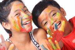 Pintura da face Fotografia de Stock
