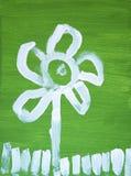 Pintura da flor Fotografia de Stock
