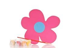 Pintura da flor do divertimento Foto de Stock