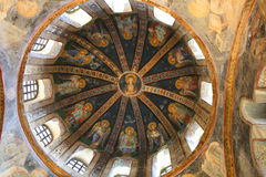 Pintura da igreja de Chora Foto de Stock Royalty Free