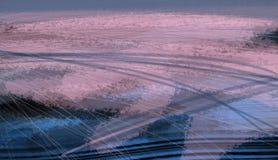 Pintura da ilustração do teste padrão da textura do planeta da terra da paisagem da vista aérea Imagens de Stock Royalty Free