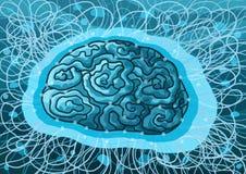 Pintura da inteligência artificial ilustração royalty free