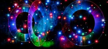 Pintura da luz da nebulosa de Triaganal Imagens de Stock
