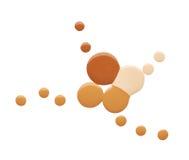 Pintura da mancha de produtos cosméticos Imagens de Stock Royalty Free