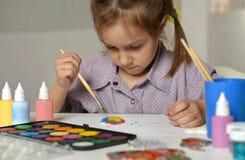 Pintura da menina Imagem de Stock