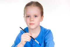 Pintura da menina - retrato Imagens de Stock Royalty Free