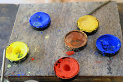 Pintura da microplaqueta Fotografia de Stock