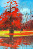Pintura da natureza. Fotos de Stock
