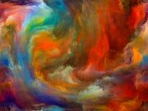 Pintura da nuvem ilustração royalty free