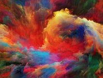 Pintura da nuvem ilustração do vetor