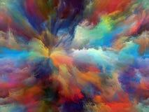 Pintura da nuvem ilustração stock