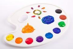 Pintura da paleta Foto de Stock