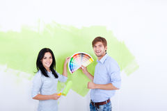 Pintura da parede Foto de Stock Royalty Free