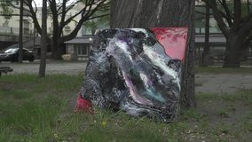 Pintura da resina de cola Epoxy vídeos de arquivo