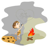 Pintura da rocha ilustração do vetor
