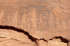 Pintura da rocha no al-Ula Imagens de Stock Royalty Free