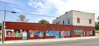 Pintura da rua dos direitos civis, Memphis, TN Imagem de Stock