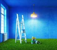 Pintura da sala Foto de Stock