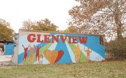 Pintura da vizinhança de Glenview, Memphis, Tennessee Imagem de Stock Royalty Free
