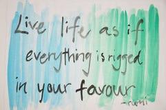 Pintura das citações de DIY Imagem de Stock Royalty Free