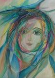 Pintura das cores de petróleo Fotografia de Stock