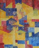 Pintura das cores de petróleo Imagens de Stock Royalty Free