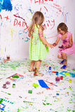 Pintura das crianças imagens de stock