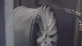 Pintura das rodas do automóvel filme