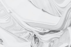 Pintura de óleo mineral abstrata do fundo, a branca e a preta na água Foto de Stock