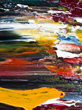 pintura de aceite abstracta del color Imagen de archivo libre de regalías