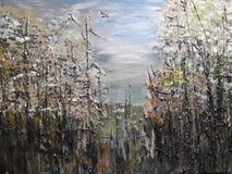 Pintura de acrílico abstracta Imagen de archivo
