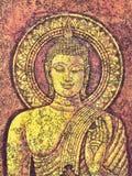 Pintura de acrílico de Buda foto de archivo