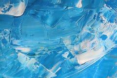 Pintura de acrílico dibujada mano Fondo del arte abstracto Pintura de acrílico en lona Textura del color pinceladas libre illustration